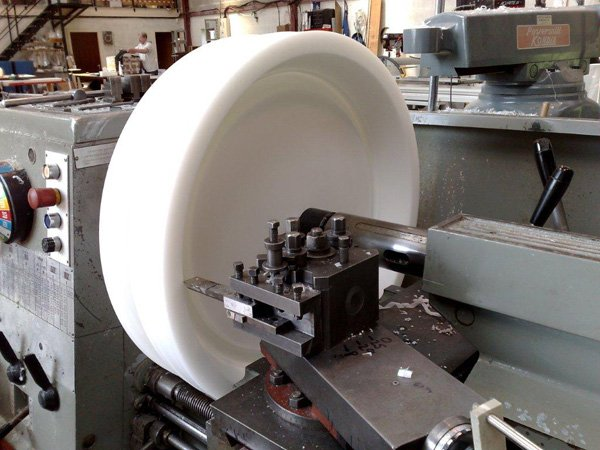Large diameter precision turning on a conventional Lathe in Acetal