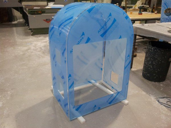 Formed Altuglas Acrylic Glove Box for the Pharmaceutical Industry