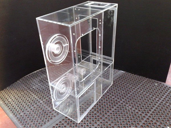 Machined and Fabricated clean air isolation cabinet / Filter Housing Unit