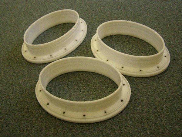 Elliptical Glove Ports in cast Nylon