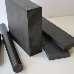 Conductive PTFE (25% Carbon) Rod