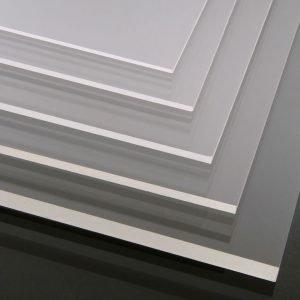 Hard Coated (Peeraguard) Clear Cast Acrylic Sheet